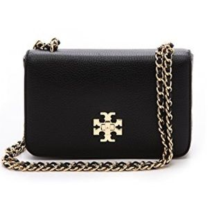 TORY BURCH MERCER SHOULDER BAG with gold chain